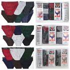 Men Bikini Brief 100% Cotton Underwear 3 6 12 Pack Solid, Stripe, T-Band Boxer