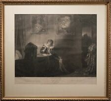 Antique Shakespeare The Seven Ages Engraving by Robert Thew 1801, Nicely Framed!