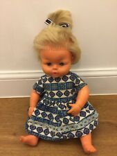 Tiny Tears Vintage  doll with top knot hair Palitoy Ltd Made in England