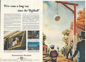 1946 PENNSYLVANIA 2-page advertisement, 100th anniversary,  HIGHBALL Signal