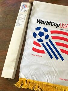 USA 94 World Cup Official Flag. Pennant. Olympus. NEW!