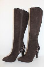 PETER KAISER Damen Echt Leder STIEFEL HIGH HEEL LEATHER BOOTS Wildleder 40 UK6.5