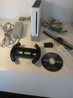 Nintendo Wii Console White RVL-001 Bundle With Cars Lot Tested