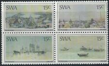 SWA - 1975 15 Oct - Paintings by Otto Schroder Setenant Block of 4