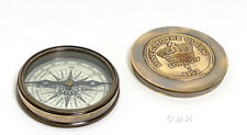 """Brass Desktop Compass, Makers To The Queen 3"""" Antiqued Finish Nautical Decor New"""