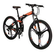 "27.5"" Folding Mountain Bike Full Suspension Bicycle 21 Speed MTB Mens Bikes"