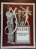Greek Woman Cherub Jugend Magazine 1899 Issue 21 Jugenstil Art Nouveau graphics