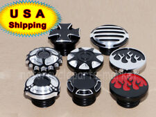 Motorcycle Fuel Tank Gas Cap Cover For Harley Sportster Dyna Touring 96-17 USA