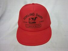 trucker hat baseball cap DOELING DAIRY retro snapback cool cloth vintage 1980