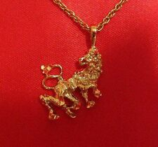 14K 14KT Double Gold Filled and Bonded Leo Lion Charm Pendant 50 mils of Gold