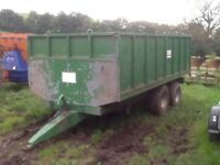 bwa tipping grain muck bale trailer for tractor