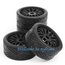 4PCS Tires Wheel Rims 22046+26010 For 1:8 RC Car Off Road Buggy HPI HSP Traxxas