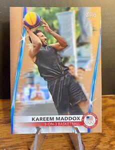 Kareem Maddox 2020 2021 Topps US Olympics Bronze Parallel #45 3v3 Basketball