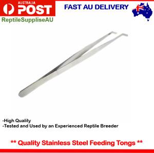 """Reptile Feeding Tongs Tweezers 25cm 10"""" Stainless Steel Snake Tongs Tweezers"""