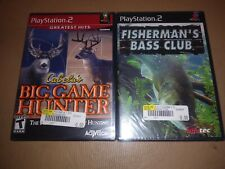New Cabela's Big Game Hunter + Fisherman's Bass Club (Sony PlayStation 2, 2002)