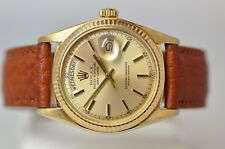 ROLEX 18K DAY-DATE PRESIDENT VINTAGE REF. 1803 NO LUME DIAL MENS DRESS WATCH!!!