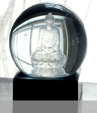 Cool Snow Globes Zen Crystal Buddha Statue - New - Free Shipping - Great Gift