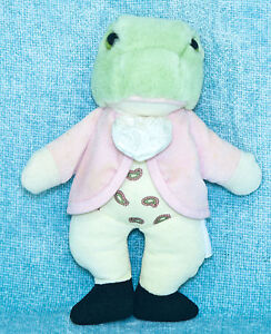 "Eden Beatrix Potter Jeremy Fisher Frog 8"" Small Plush Stuffed Animal Vintage"