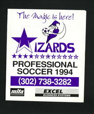 Delaware Wizards--1994 Pocket Schedule--USISL