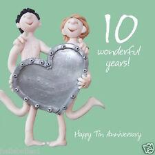 Santo Caballa feliz 10TH/TIN Aniversario Tarjeta de felicitación ** Gratis 1ST clase P & P **