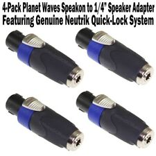 "4-Pack Planet Waves Neutrik SpeakOn to 1/4"" Speaker Adapter Female Cable NEW"