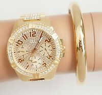 Guess  Uhr Damenuhr W1156L2  FRONTIER Edelstahl IP Gold  neu