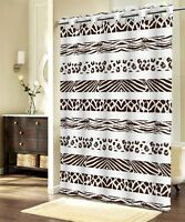 LUXURY MODERN Bathroom Shower Curtain FABRIC 100% Polyester 180x200 ANIMAL PRINT