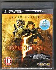 PS3 Resident Evil 5 Gold Edition (2010), PAL UK TOTALMENTE NUEVO y sellado de fábrica Sony