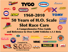 50 Years of HO Slot Car 1960-2010 260pg 5k+ Cars  Reference Value Guide BETA 1.1