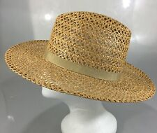 Marshall Fields Womens Straw Hat Made in Italy S-M 21 1/2""