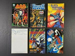Lot of (6) Batman Superman Punisher Black Panther Graphic Novels DC Comics