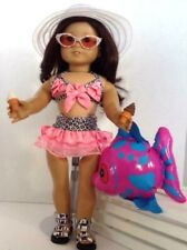 """9 Piece Beach Set for American Girl Doll 18"""" Accessories Fit Summer Bathing Suit"""