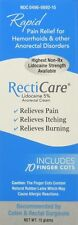Recticare Anorectal Lidocaine 5% Numbing Cream .5 Oz - With Finger Cots (Maxi...