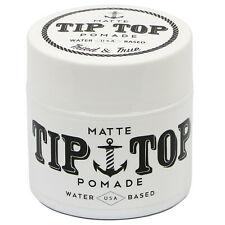 TIP TOP Matte Water Based Medium Hold Pomade 4.25oz Free Comb NEW