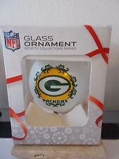 GREEN BAY PACKERS GLASS BALL ORNAMENT NFL SPORTS COLLECTORS SERIES NEW IN BOX