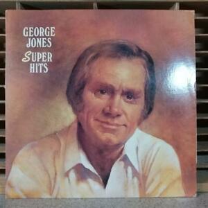 GEORGE JONES - SUPER HITS  LP VINYL RECORD ALBUM
