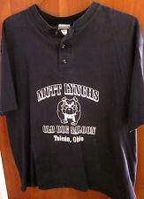 Mutt Lynch softball Henley T shirt Xl Old Dog Saloon Toledo Ohio horrible shape