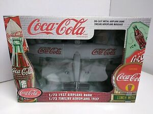 Ertl 1:72 1927 Airplane Bank Coca-Cola NIP Nice!