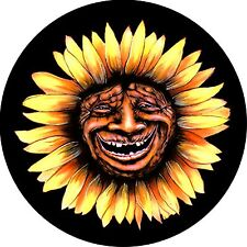 Sunflower Face Spare Tire Cover Fits jeep, rv, campers, trailers, backup cameras