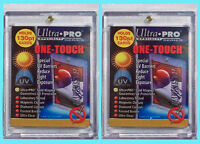 2 Ultra Pro ONE TOUCH MAGNETIC 130pt UV Card Holder Display Case Two Piece 81721