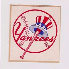 Vintage 1940's/50's New York Yankees Used Baseball Decal