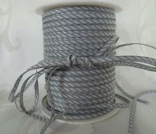MAY ARTS RIBBONS~SOLID DIAGONAL STRIPE~GRAY & WHITE~1/8TH INCH WIDE X 3 YARDS!