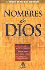 Nombres de Dios, Folleto (Names of God, Pamphlet) BRAND NEW!!!