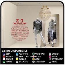 Adesivi BABBO NATALE per vetrina negozio muro interno boutique vetrofanie