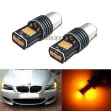 Error Free Amber 7507 PY21W LED Bulbs For BMW 1 2 3 Series X3 Turn Signal Lights