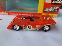 VINTAGE SOLIDO - FERRARI 312PB [RED] VHTF EXCELLENT CONDITION BOX GOOD