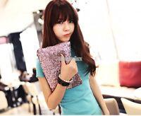 Womens Fashion Glitter Sequins Handbag Evening Party Clutch Bag Wallet Purse EA