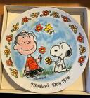 1976 Peanuts Mothers Day Plate Limited Edition in Original Box Snoopy & Linus
