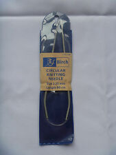BIRCH circular knitting needles, size 2.25mm, length 80cm. new unused