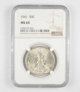1941 MS64 Walking Liberty Half Dollar - Graded By NGC - Choice Unc *230